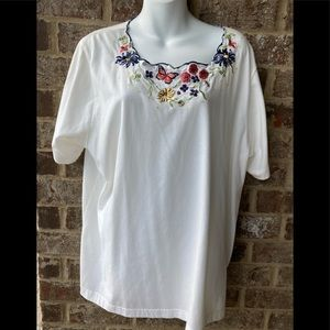 Bonworth embroidered top size XL